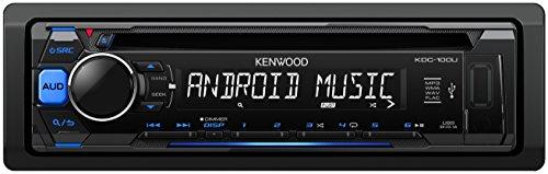 Kenwood Electronics KDC-100UB Negro 200W receptor multimedia para coche - Radio para coche (Negro, 1 DIN, 200 W, CD, 20-20000 Hz, 105 dB)