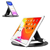 OMOTON Tablet Stand Adjustable, Desktop Aluminum iPad Stand with Anti-Slip Base, Portable Holder Dock for iPad 10.2/9.7, New iPad Pro 11 2020, iPad Air, Samsung Tab, E-Reader and Cellphones, Black
