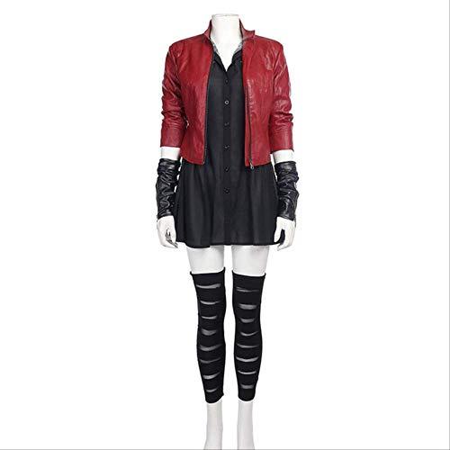 MSSJ Scarlet Witch Cosplay Disfraz Avengers Age of Ultron 2 Bruja Escarlata Cosplay Disfraz Disfraces de Halloween para Mujeres XXXL Todo Listo