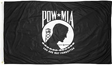 US Flag Store Double Sided Super Knit Polyester Pow Mia Flag, 3 by 5-Feet