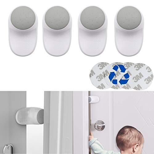 Paquete de 4 Topes de Puerta para Niños y Bebés, Topes de