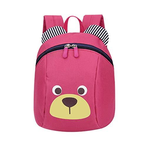 VOARGE Kleinkind-Rucksack, Anti Verlorene Tasche Niedliche Bär-Tier-Kind-Rucksack Cartoon Harness Rucksack Leine Sicherheit Anti-verloren Rucksack, für Baby Jungen Mädchen 1-3 Jahre (rosa)