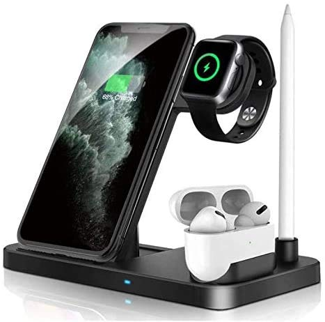 Updated Version Wireless Charger UIKJYY Wireless Charging Stand for iPhone 11 Pro Max X XS XR Xs Max 8 8 Plus and Other Qi Phones Wireless Charging Station Compatible Apple Watch Series Airpods