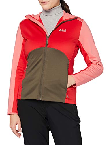 Jack Wolfskin Mount ISA Giacca in Pile, Donna, Clear Red, XS