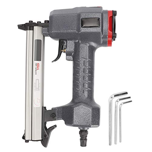 Handheld Pneumatic Nailer Nail Guns Straight Air Staple Nailer Cement Wiring Duct Woodworking Tool with Hex Wrench