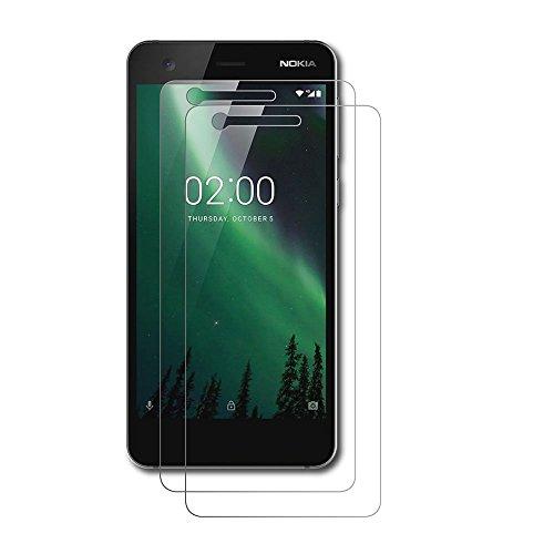AICEK [2 Pack] Nokia 2 Pellicola Protettiva, Nokia 2 Screen Protector Toccare Compatibile Pellicola Protettiva in Vetro temperato per Nokia 2 Vetro Trasparenza ad Alta Definizione