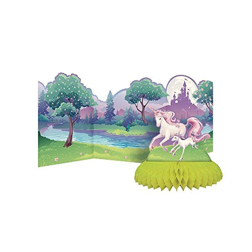 Creative Converting Unicorn Fantasy Centerpiece, Honeycomb w/Accordion Backdrop