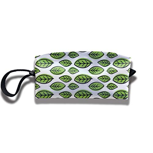 Bbhappiness Pouch Handbag Cosmetics Bag Case Purse Travel & Home Portable Make-up Receive Bag Green Citrus Leaves