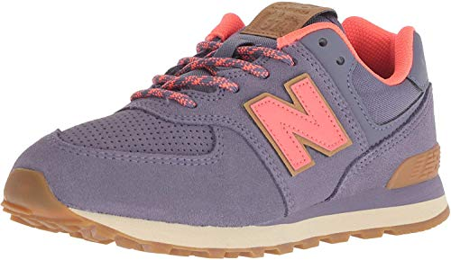 New Balance 574 V1 Lace-Up Sneaker, Deep Cosmic Sky/Dragonfly, 11 Wide US Unisex Little_Kid