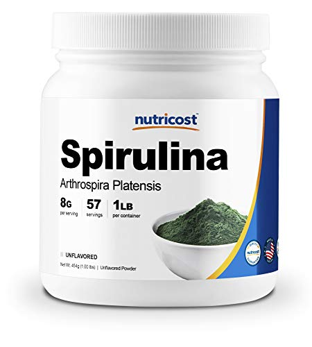 Nutricost Spirulina Powder 454 Grams (1LB) - Pure...