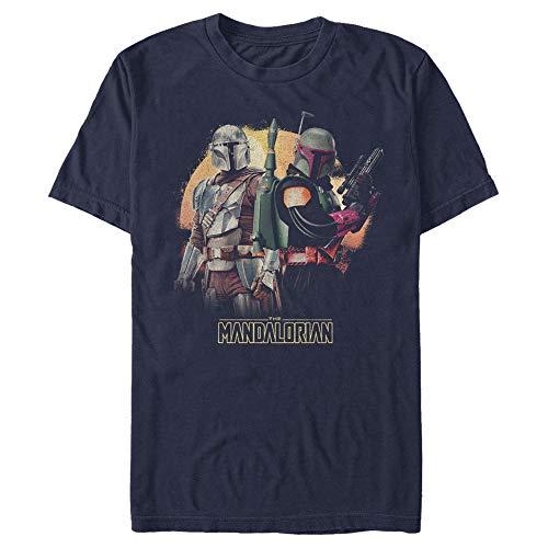 Men's Star Wars The Mandalorian Boba Fett Honor The Deal T-Shirt - Navy Blue - 3X Large