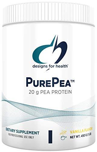 Designs for Health PurePea - Vanilla Pea Protein Powder with 20g Vegan Protein with Non-GMO Peas (15 Servings / 450g)