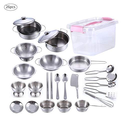 Childlike Juguetes De Simulación Cocinar Utensilios De Cocina, 25 Piezas/Kits Cocina Y...