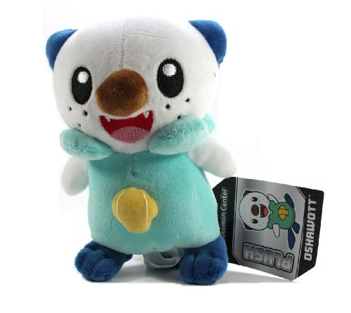 "Pokemon Center Black and White Pokedoll Plush Doll USA - 6"" Oshawott/Mijumaru"