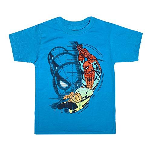 Marvel Amazing Spider-Man Toddler Little Boys T-Shirt, Blue Heather, 5T