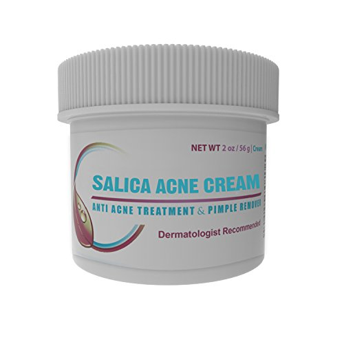 Salica Acne Treatment Cream - Topical Anti Acne Medication with Salicylic Acid and Tea Tree Oil - Get Rid of Acne Scars, Pimples, Cystic Acne and...