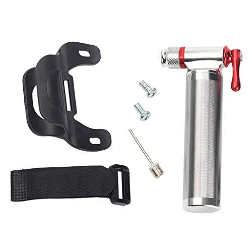 Hellery Inflador de CO2 Compatible con La Bomba de Neumáticos de Bicicleta con Válvula Presta Y Schrader para Bicicletas de Montaña