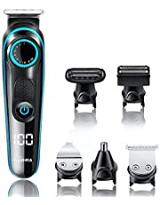 Kubra KB-5300 5 IN 1 Multifunctional Grooming Kit For Body Grooming, Beard & Moustache, Nose, Ear & Eyebrow, LED Display, 19 Length Setting, 90 minutes runtime and Fast Charging