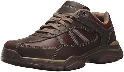 Skechers USA Men's Men's Relaxed Fit-Rovato-Texon Oxford,10.5 M US,chocolate