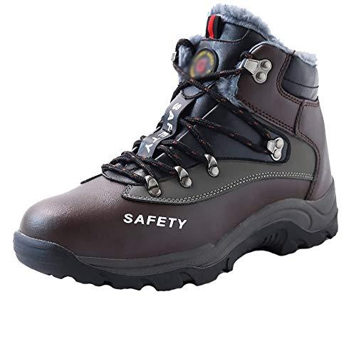 Zapatos De Hombre Zapatos De Trabajo De Seguridad De Alta Definición A Prueba De Olores E Impermeables Para Hombres Zapatos De Seguridad De Invierno Antideslizantes, Ligeros Y Resistentes Al Desgaste