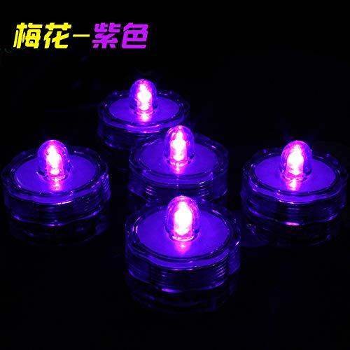 LED Kerze wasserdicht, 12 LED Flammenlose Kerzen, Weihnachten, Elektrische Teelichter Kerzen für Halloween, Weihnachten, Party, Bar, Hochzeit 3cmx2.6cm