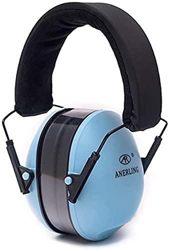 AACXRCR Orejeras insonorizadas Profesional Anti-Ruido Interferencia Dormir Estudiante Mute Actuación de Ruido Industrial Cómodo Auriculares para Dormir cómodos (Color: Azul, Tamaño: 20 * 13cm)
