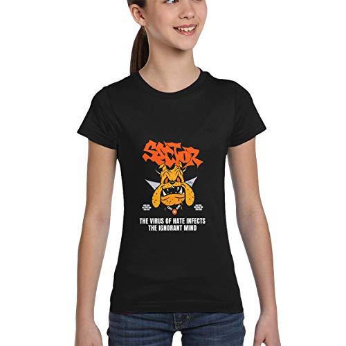 wenchongmaoyi Coro-navi-rus Colored Print Kids Round Neck Shirt Girls T Shirts Teen T Shirts Girl Size 8