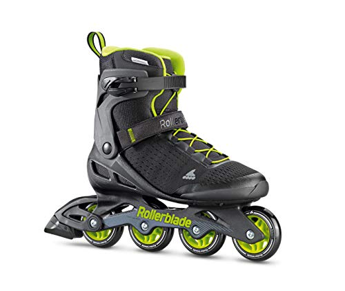 Rollerblade Zetrablade Elite Men's Adult Fitness Inline Skate, Black and Lime, Performance Inline Skates, 9
