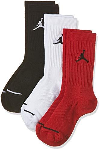 NIKE Jumpman Crew 3Ppk Calcetines Línea Michael Jordan, Hombre, Negro (Black/White/Gym Red), M