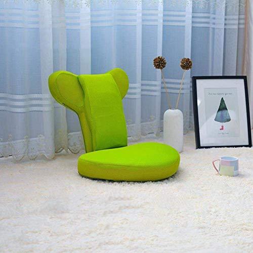 PLLXY Gepolsterte Bodenstuhl Mit Verstellbar Rückenstütze,Tatami Sitzsack Zaisu,entfernbar Japanisches Stuhl Indoor Outdoor Lesen Meditation Spiele-grün