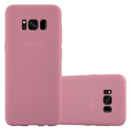Cadorabo Custodia per Samsung Galaxy S8 in CANDY ROSA - Morbida Cover Protettiva Sottile di Silicone TPU con Bordo Protezione - Ultra Slim Case Antiurto Gel Back Bumper Guscio