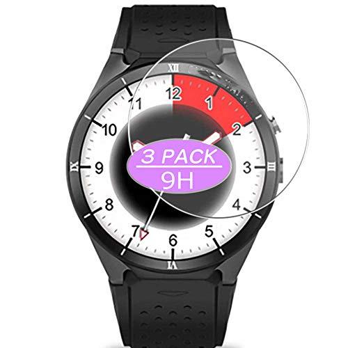 Vaxson Protector de pantalla de cristal templado, compatible con Kingwear KW88 Pro smartwatch Smart Watch, protectores de película 9H