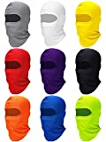 Zhanmai Full Face Cover UV Protection Neck Gaiter Breathable Balaclava Hood for Outdoor Motorcycle Cycling (Bright Colors, 9)