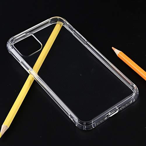 XIXI Telefoon Schokbestendig Dik Transparant TPU Beschermend Hoesje voor iPhone 11 Pro (Roze) Glad Voel en Kwaliteit Garantie, Transparant