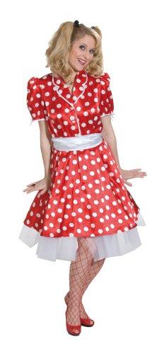 Rock'n Roll Kleid Karneval Fasching Kostüm rot Gr.36