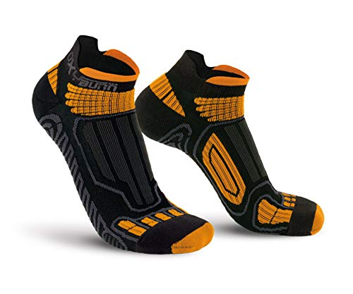 Oxyburn Running Low-Cut Dry-Tech Carbon M Chaussettes Homme, Noir/Orange, Size 39/41