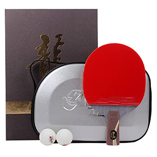 SGAIYUNRT Palas Ping Pong con Placa Base de Carbono y Madera, Potente Paleta de Raquetas de Tenis de Mesa en Goma Profesional