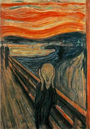Kemeinuo Cuadros Modernos Arte Famoso Edvard Munch el Grito reproducciones de Arte en Lienzo Carteles de Pared clásicos Abstractos 60x90cm