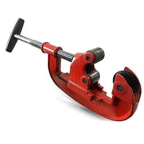QWORK Robusto tagliatubi in acciaio, da 25 mm a 80 mm con Mini Taglio Pipes Cutter per Tagliare Acciaio Inossidabile, Rame, Lega di Alluminio, PVC