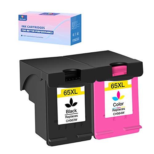 NEXTPAGE Cartucho de tinta de repuesto para HP 65XL 65 XL de alto rendimiento HP DeskJet 2652 2655...