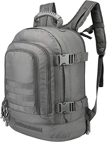 ACOMOO Expandable Backpack 39L-64L Large Tactical Bug Out Bag Wth Waist Strap Gray