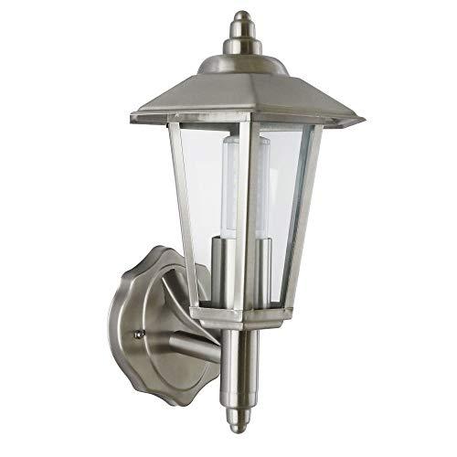 Außenleuchte Außenlampe Wandleuchte Edelstahl E27 Aussenwandleuchte Wandlampe Wandleuchte Wandstrahler Lampe Lampen (601A+LED 8W Neutralweiß)