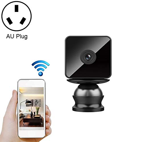KINGONE Ruijuxin US Plug, Support Non-Light Night Vision & Peregrine Phone Distant Monitoring & Motion Detection/Alarm & 64GB Camera Memory Card, Modest Radio WiFi HD IP Camera (Color : Color3)