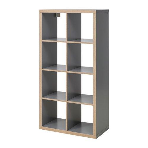 Ikea KALLAX Regal in grau; Holzeffekt; (77x147cm)