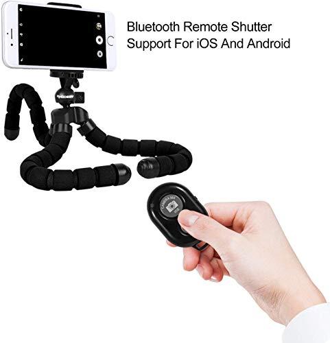 Rhodesy Oktopus Handy Stativ mit Bluetooth Fernbedienung Dreibein für Kamera und Smartphone