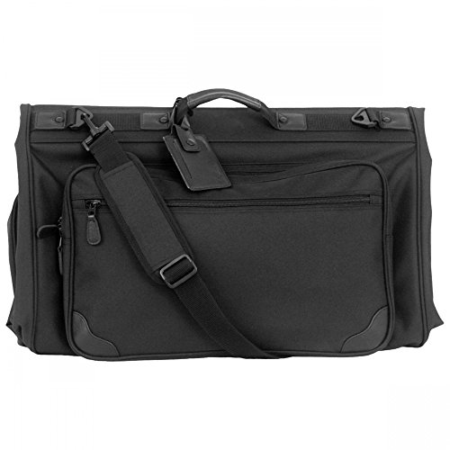 Tri-fold Garment Bag (Black) (45'L x 2 1/4'W x 22 1/4'H)
