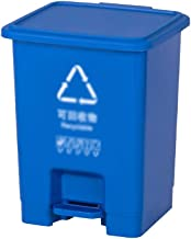 C-J-Xin Large Compost Bin, Plastic with Cover Outdoor Trash Can Home Patio Hotel Garbage Recycling Bin Kitchen Foot-Operat...