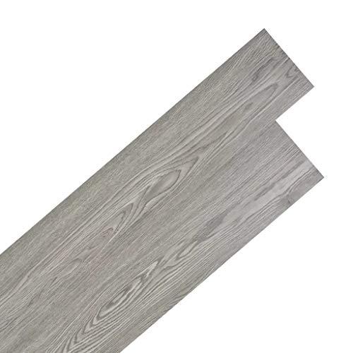 WENXIA PVC Laminatboden 5,02m2 2mm selbstklebend dunkelgrau Vinylboden