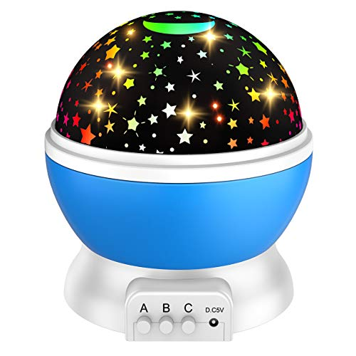Dreamingbox Star Projector Night Light for Girls 2-10 Years Old Ideas Toys for 1-10 Year Old Boys New Bedroom Gifts for Boys Toys Age 2-10 Blue TGUSYD02