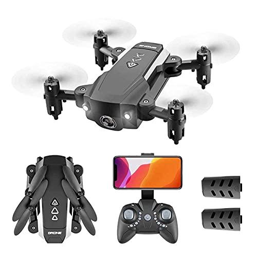 rzoizwko Drohne, Mini-Drohne mit 4K-Kamera für Kinder und Erwachsene, Faltbarer Live-Video-Quadcopter für FPV-Drohnen-Anfänger RC, App-Steuerung, 3D-Flips und Headless-Modus, One Key Return, Altitude
